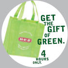 H-E-B – Trade Your Plastic Bags for a Reusable Bag