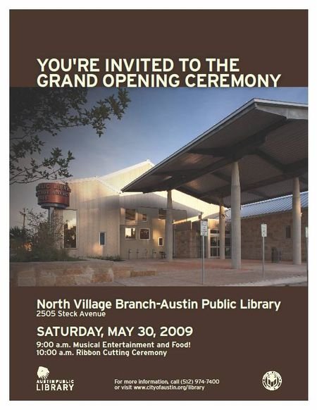 North village library opening