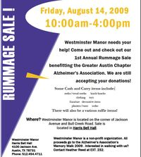 Westminister rummage sale