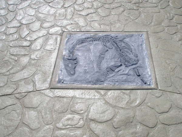 Plesiosaur Tile reminder of important fossil find in Shoal Creek