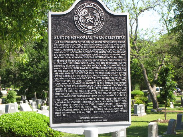 Historic Texas Cemetery Marker Dedication