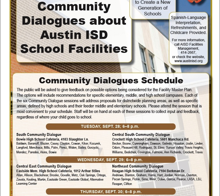 Community Dialogues about Austin AISD School Facilities