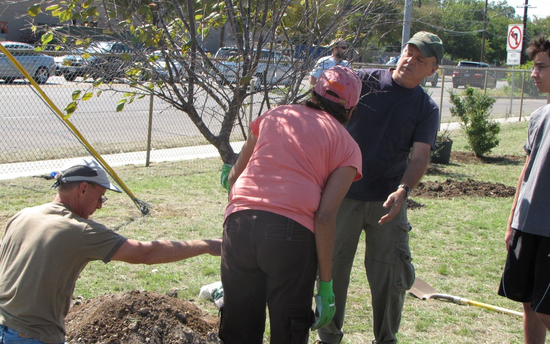 Tree Planting at Lamar Middle School
