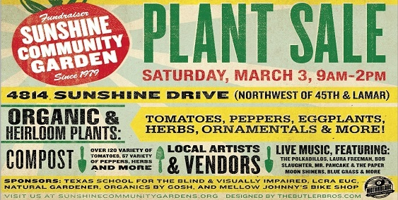 Annual Sunshine Gardens Spring Plant Sale tomorrow, March 3