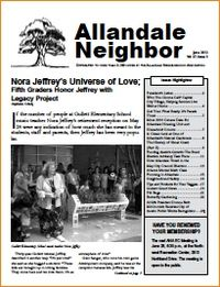 June allandale newsletter front page