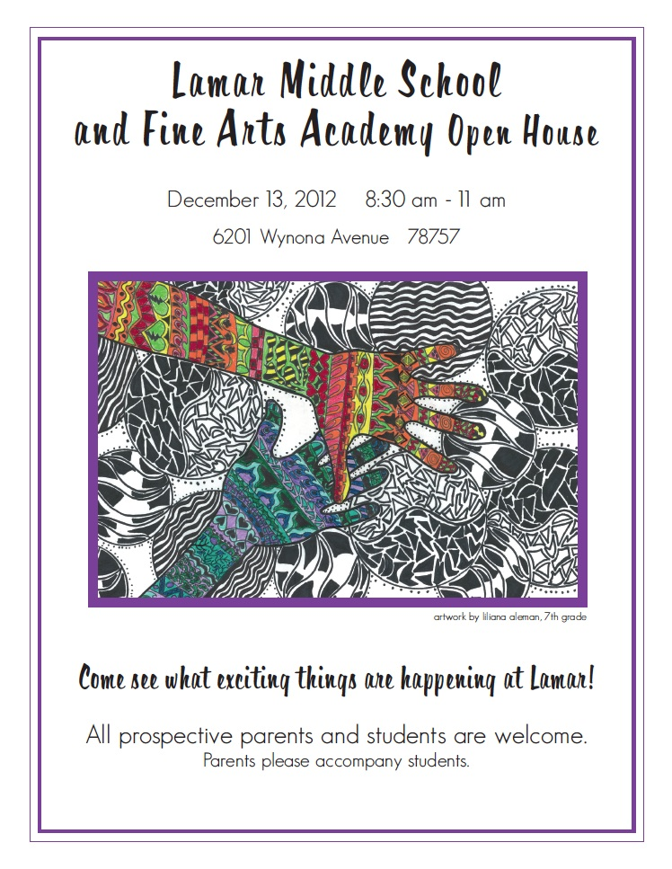 Lamar Middle School Fine Arts Academy Open House