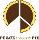 Peace through pie logo