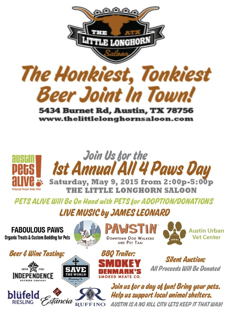 1st All 4 Paws Day at Ginny's this Sat, May 9!