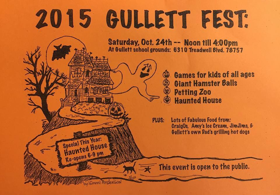 Gullett Fest fall carnival, Sat Oct 24, noon to 4 pm open to all!
